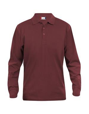 NewWave Polo Lincoln Manica Lunga (S - BORDEAUX)