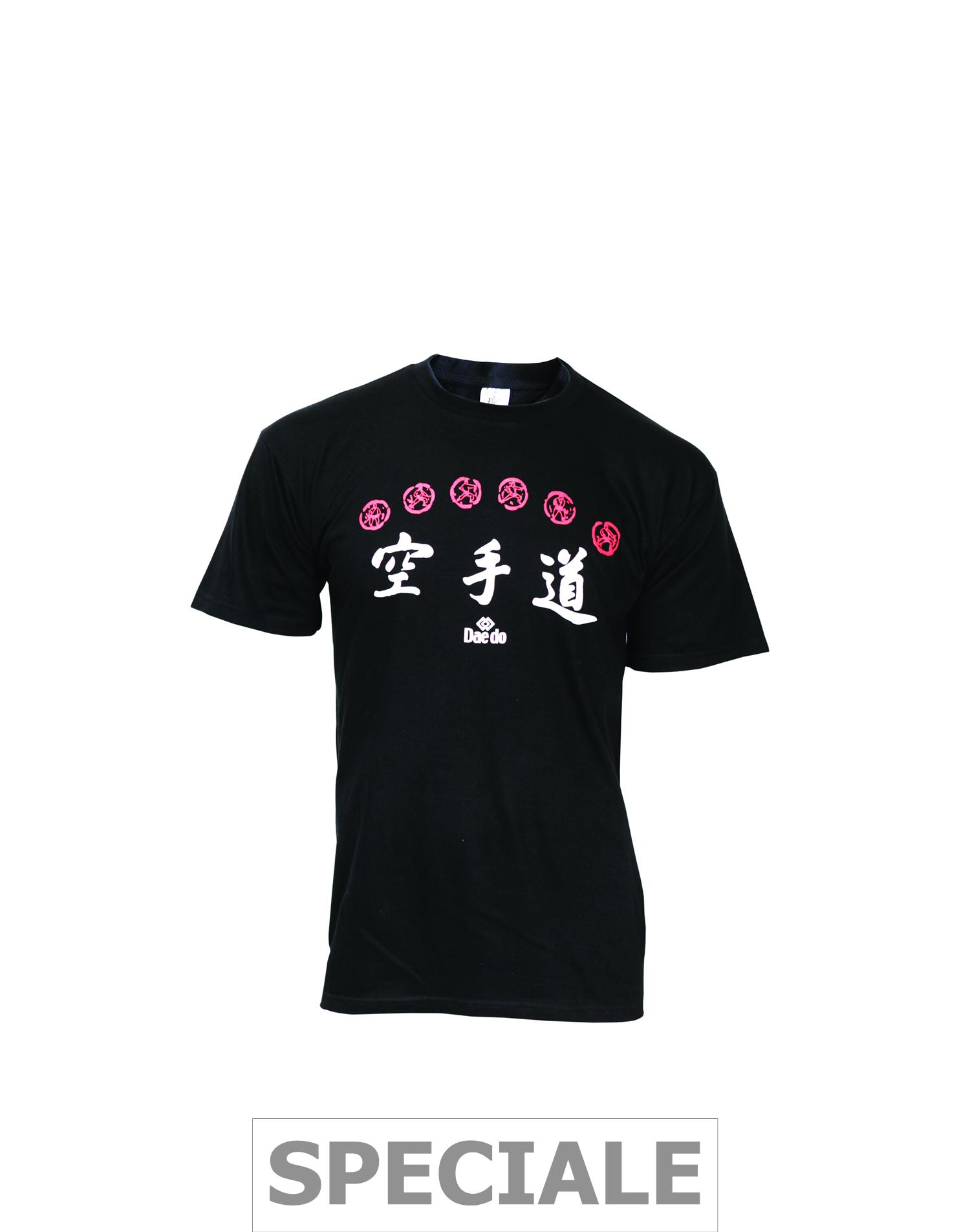 Dae Do T-shirt Cotone Karate Nera
